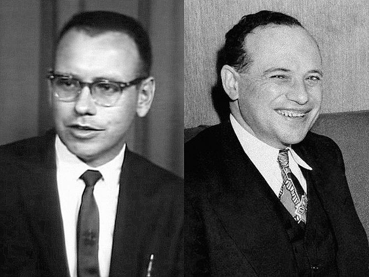 Молодой Уоррен Баффет и Бенджамин Грэхем
